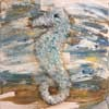 Crushed Glass Seahorse - Tonight's Vintage Painting Class 9/02/17 @ 7 pm <br> ( 24 hr. rescheduling accepted, no refunds ) <br>  Please no child ( Including Infants ) under 15 allowed