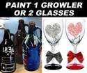 Growler or Wine Glasses - Tonight's I-10 Marqe Couples Painting Class - 2/12/17 at 7 pm <br> ( 24 hr. rescheduling accepted, no refunds ) <br>  Please no child ( Including Infants ) under 15 allowed