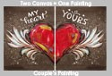 My Heart is Yours - Today's Vintage Location Paint Class 2/11/17 @ 3pm <br>Registration Fee Pays for 2 People <br>( 24 hr. rescheduling accepted, no refunds )