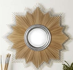Starburst Paintbrush Mirror