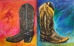 Single Boot ( You Choose ) - Today's MarqE Location Paint Class 3/10/18 @ 7pm  - Free Wine and Chocolate  ( 24 hr. rescheduling accepted, no refunds )